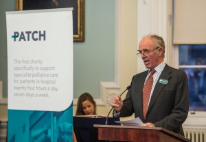 Sir Michael Nairn speaking at the PATCH National Launch