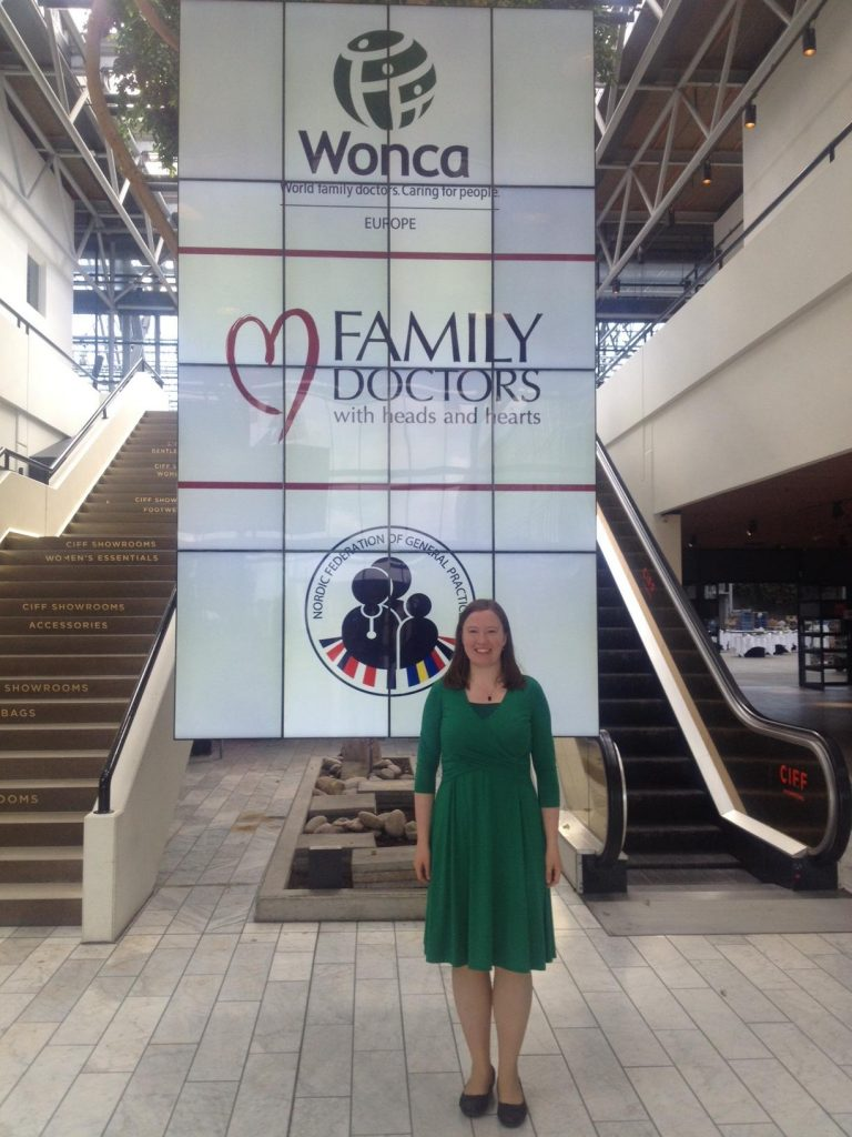 Dr Sarah Mills at WONCA Europe 2016