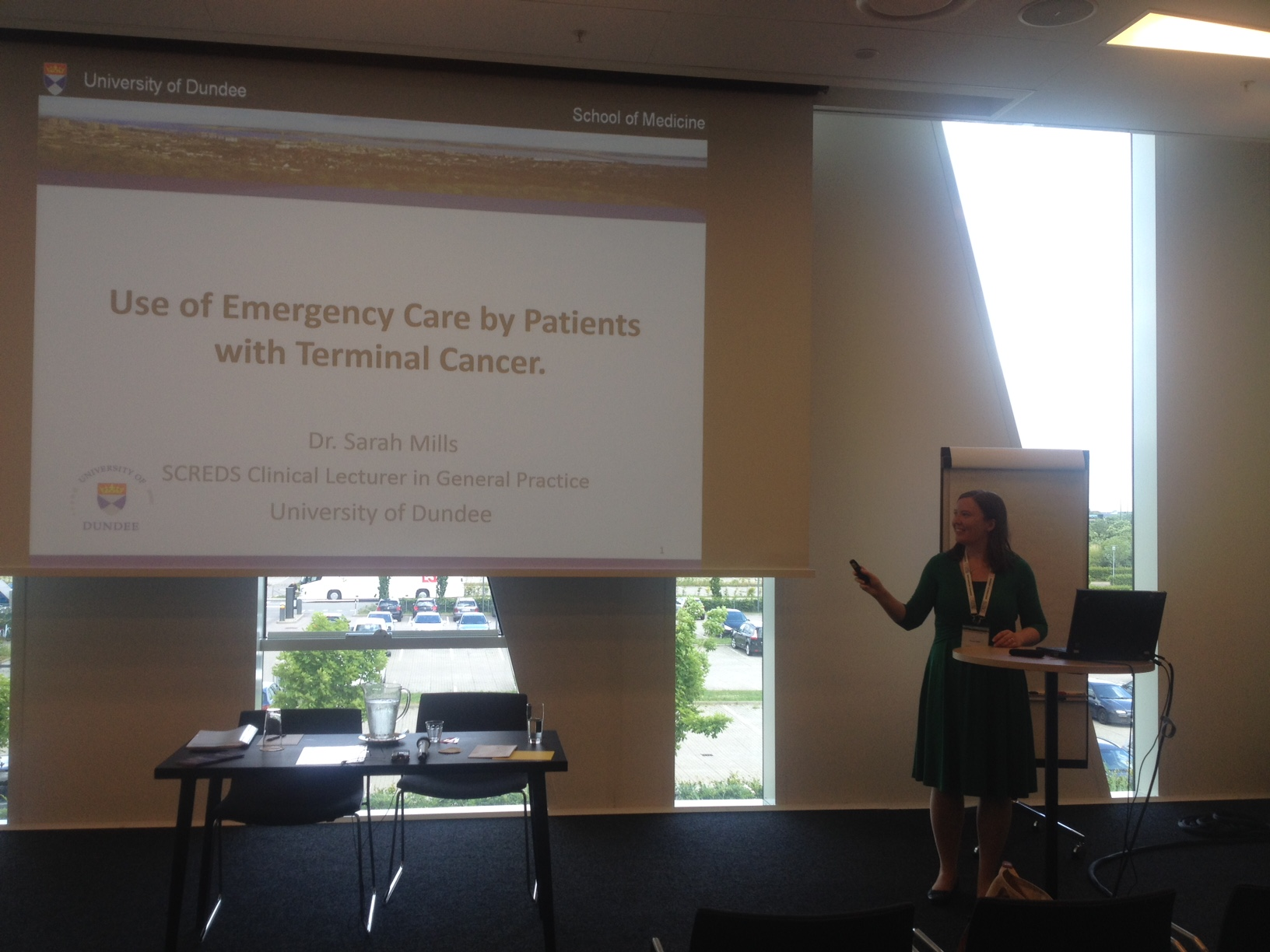 Dr Sarah Mills giving a presentation at WONCA Europe 2016